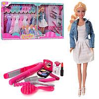 Кукла типа барбиДефа Defa 29 см с одеждой,платья, обувь, аксессуары, плойка,8426-BF
