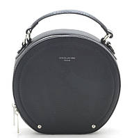 Женский круглый клатч D.Jones 6135-1 black David Jones (Дэвид Джонс) - оригинальные сумки, клатчи и рюкзаки , фото 1