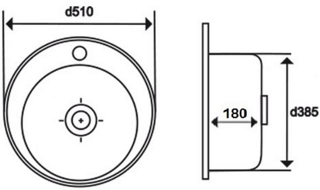 Кухонная Мойка Imperial 510-D Satin 0,6 Мм