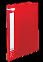 Папка со скоросшивателем Buromax Jobmax красная