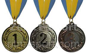 Медаль спортивная (Диаметр 4,5 см, золото, серебро, бронза), фото 3