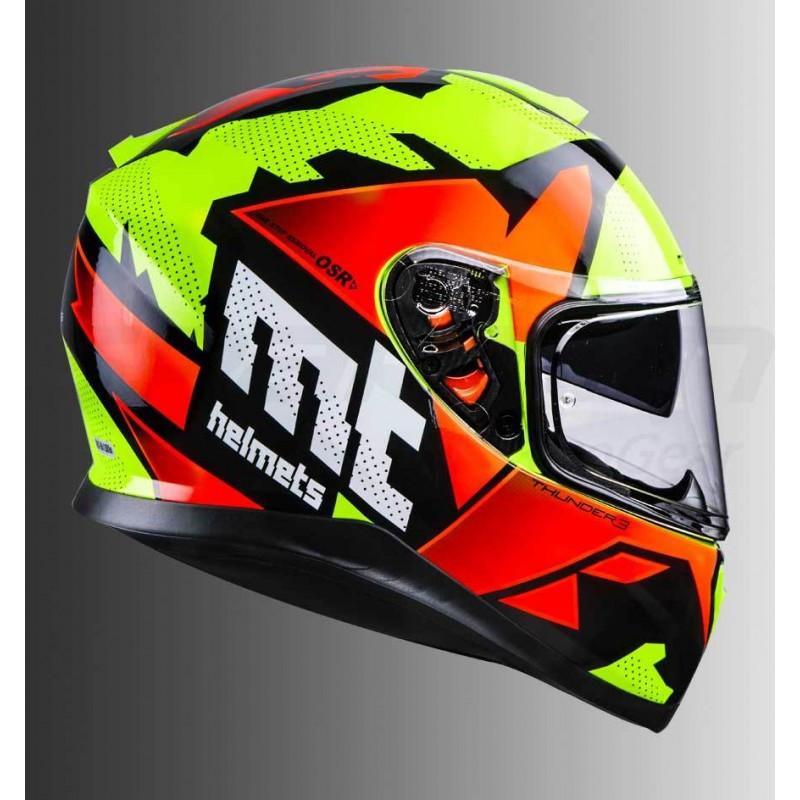 Мото шлем  MT Helmets THUNDER 3 SV Torn Integral Road Orange Yellow