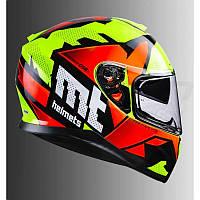 Мото шлем  MT Helmets THUNDER 3 SV Torn Integral Road Orange Yellow, фото 1