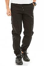 Мужские джоггеры с боковыми карманами 708 черные