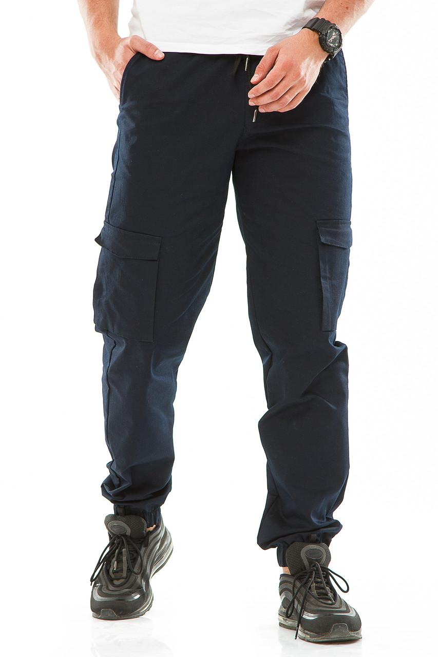 Мужские джоггеры с боковыми карманами 708 синие