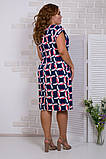 Легке ошатне жіноче плаття,тканина супер софт,розміри:50,52,54.56., фото 3