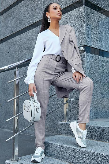 Стильные женские брюки 3601 серый (M-2XL)