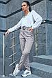 Стильные женские брюки 3601 серый (M-2XL), фото 2