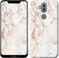 Чехол EndorPhone на Nokia 7.1 Plus Белый мрамор 3847u-1606, КОД: 344580