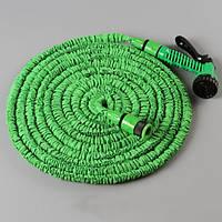 Садовый шланг для полива XHOSE 60 м с распылителем, зеленый