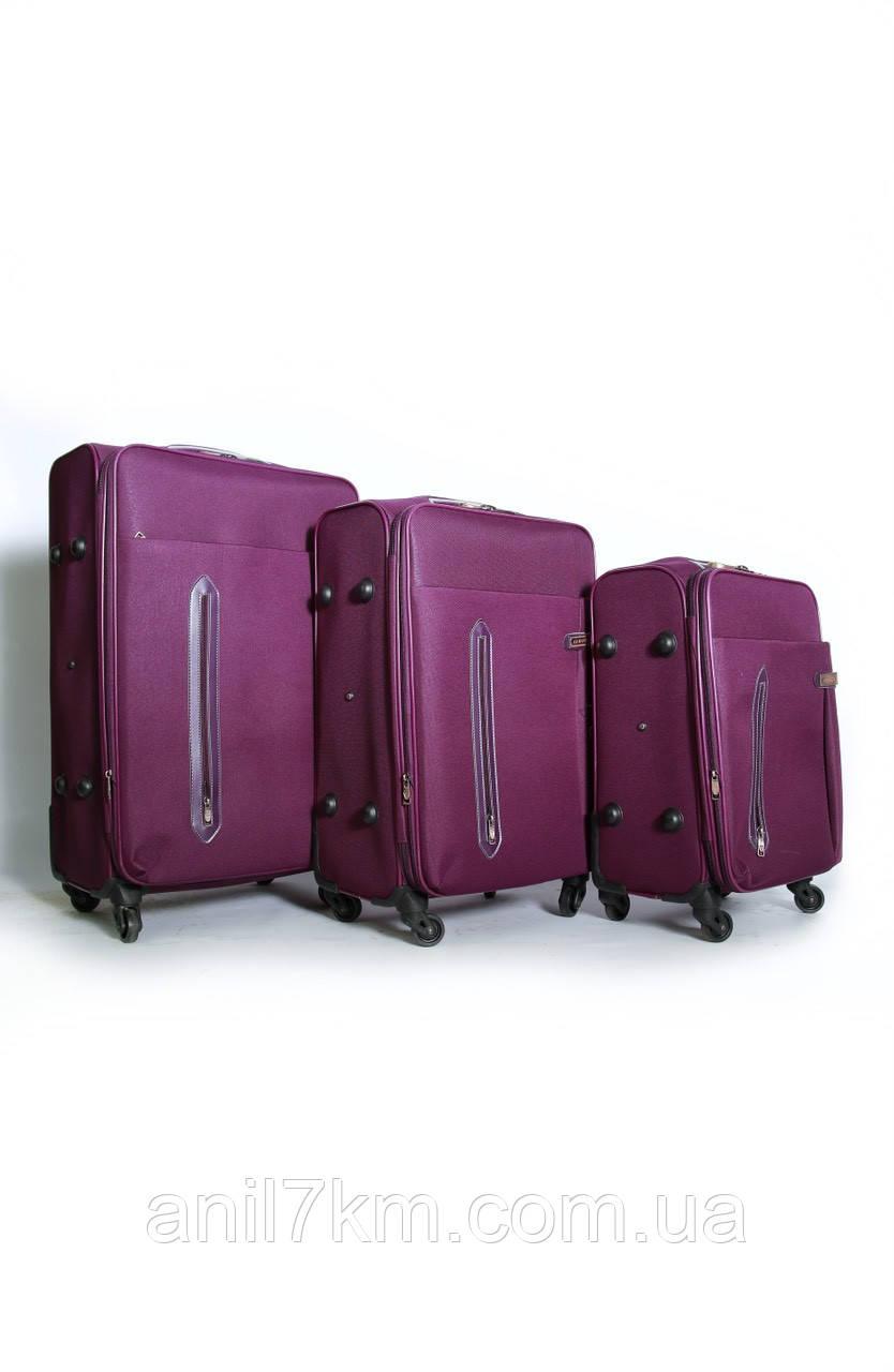 Комплект валіз 3-ка.на чотирьох колесах