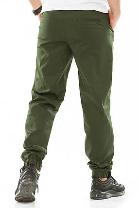Мужские джоггеры 709 зеленые, фото 2