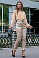 Молодежные женские брюки 3600 кофе (M-2XL), фото 2