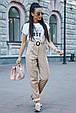 Молодежные женские брюки 3600 кофе (M-2XL), фото 3