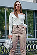 Молодежные женские брюки 3600 кофе (M-2XL), фото 4