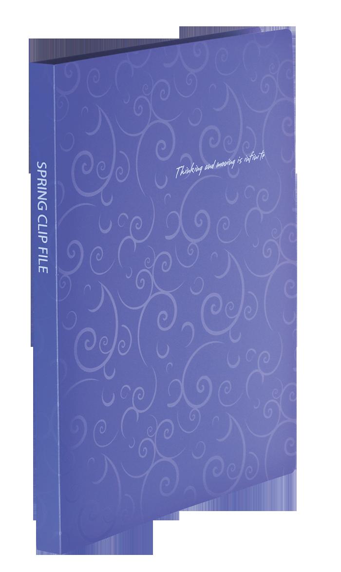 Папка со скоросшивателем Buromax Barocco A4 фиолетовая