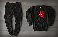 Спортивный костюм мужской MR Black осенний   Комплект весенний Свитшот + штаны ТОП качества