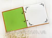 Альбом для фото или пожеланий гостей в деревянной обложке 20х20 см (красное дерево), фото 3