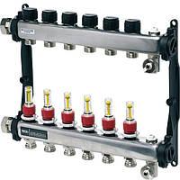 Коллектор TECE floor HKV 10 c ротометрами нержавеющая сталь (77310010)