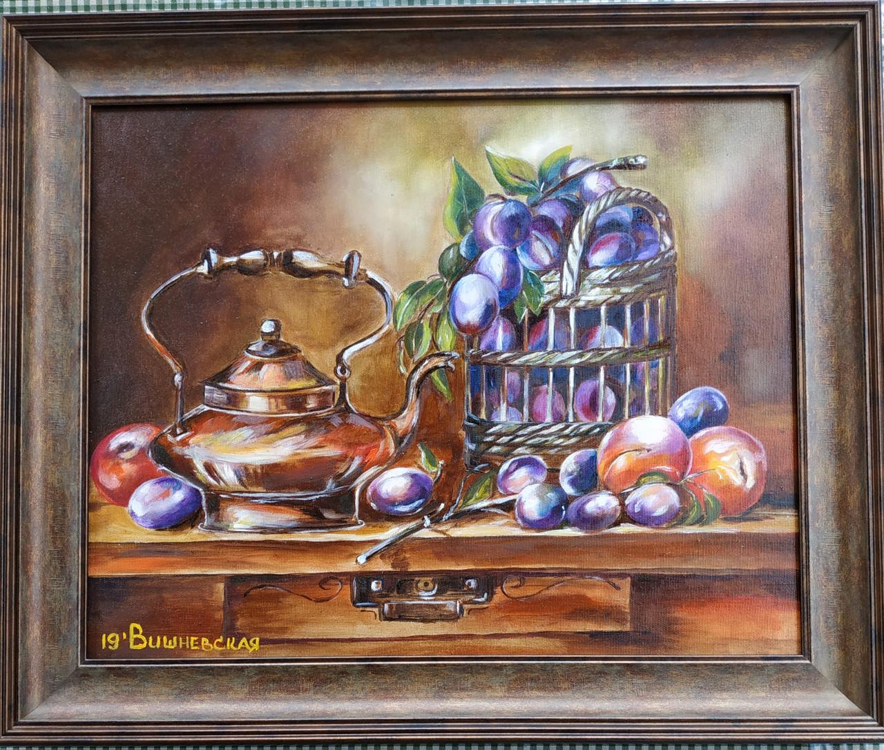 Картина маслом натюрморт у мамы на кухне