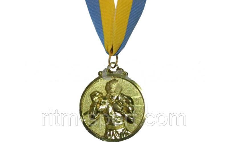 Медаль з стрічкою спортивна Бокс