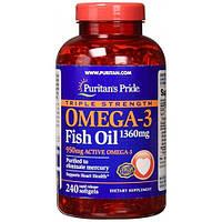 Рыбий жир Puritans Pride Triple Strenght Omega 3 1360мг 240 кап.