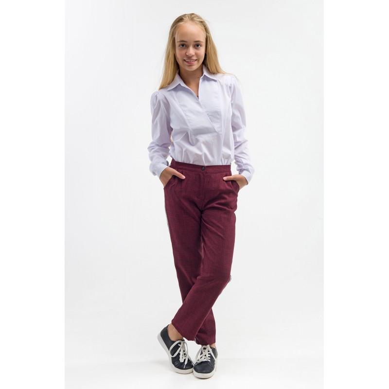 Однотонна шкільна блуза для дівчинки (2 кольори)