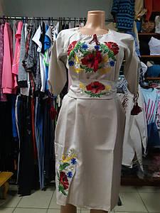 Сукня жіноча вишита Льон Вишиванка з поясом р. 42 - 60