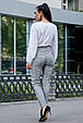 Стильные женские брюки 3588 серая клетка (S-XL), фото 3