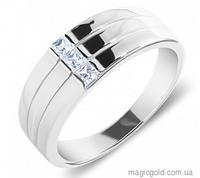 Серебряное кольцо с фианитами Тори