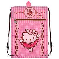 Сумка для обуви с карманом Kite Hello Kitty Розовый HK18-601M-1, КОД: 706084