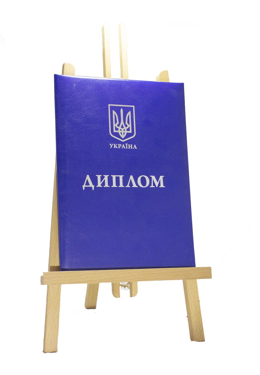 Обкладинка для документів про освіту, синя, А4 (вертикальна)