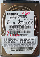 "Жесткий диск для ноутбука Toshiba 250GB 5400rpm 8MB (MK2546GSX)  2.5"" SATAII Б/У на запчасти, фото 1"