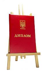 Обкладинка для документів про освіту, червона, А4 (вертикальна)