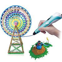 3Д ручка с LCD дисплеем smsrt 3D pen-2 рисование пластиком Синий RO3DPEN-2, КОД: 723819