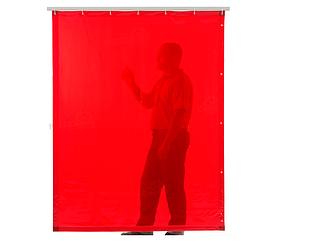 Красная защитная штора Cepro Orange-CE 1800х1400х0.4