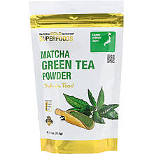 "Зеленый чай Матча California GOLD Nutrition, Superfoods ""Matcha Green Tea Powder"" в порошке (114 г)"