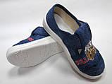 """Текстильные тапочки, мокасины, слипоны, текстильная обувь для мальчика тм""""Валди"""" , размеры  26., фото 4"""
