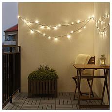 ЛЕДЛЬЮС Светодиодная гирлянда, 64 диода, для сада, черный, 80357430, ИКЕА IKEA, LEDLJUS, фото 2