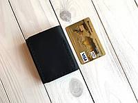 Компактный кожаный кошелек-зажим для денег Goose™ G0038 черный, ручной работы, фото 1
