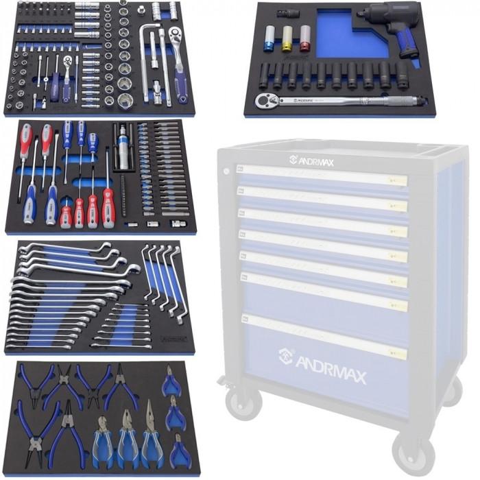 Набор инструмента для телег, 225 предметов ANDRMAX