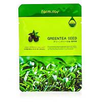 Тканевая маска с зеленым чаем Farm Stay Visible Difference Green Tea Seed Mask Sheet