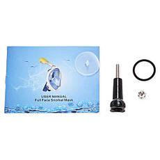 Маска для плавання повна Free Breath M2068G L/XL Blue, фото 2