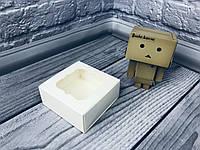 Коробка для пряников / 80х80х35 мм / Молочн / окно-обычн, фото 1