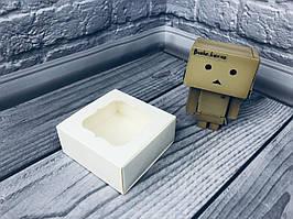 Коробка для пряников / 80х80х35 мм / Молочн / окно-обычн