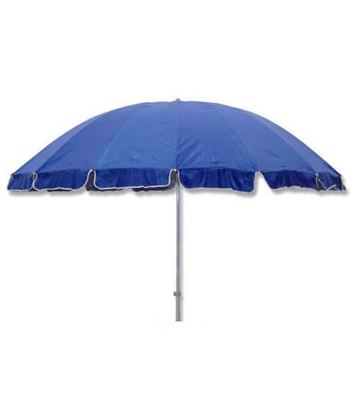 Зонт пляжный, садовый, диаметр 3,3 метра, с ветровым клапаном и серебряным напылением, 12 спиц из пластика