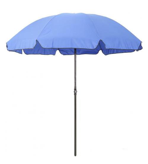 Зонт пляжный, диаметр 3 метра, с серебряным напылением, 10 спиц из пластика