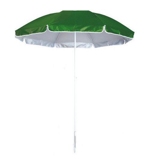 Зонт пляжный, диаметр 2,2 метра, с серебряным напылением,  пластиковые спицы