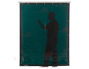 Зеленая защитная штора Cepro GREEN-6 2000х1400х0.4