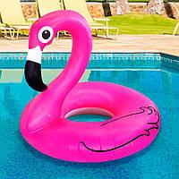 Надувнойкругрозовый Фламинго, 120см.